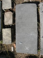 Gravestone 105, Hunt's Bay Jewish Cemetery (Last Name: Narbaes, First: Isaac)