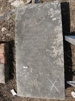 Gravestone 181, Hunt's Bay Jewish Cemetery (Last Name: Da Silva, First: Ester, Title: Muher (wife))