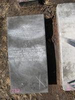 Gravestone 232, Hunt's Bay Jewish Cemetery (Last Name: Nunez, First: Iahacob)