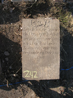 Gravestone 242, Hunt's Bay Jewish Cemetery (no survey form included; images only)