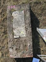 Gravestone 244, Hunt's Bay Jewish Cemetery (Last Name: Gadjie, First: Hanah)