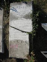 Gravestone 253, Hunt's Bay Jewish Cemetery (Last Name: Da Costa Alvareng (?), First: Daniel)