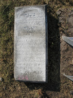 Gravestone 256, Hunt's Bay Jewish Cemetery (Last Name: Dias, First: Ester, Title: Mrs.)