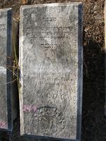 Gravestone 279, Hunt's Bay Jewish Cemetery (Last Name: Illegible)