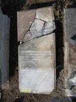 Gravestone 284, Hunt's Bay Jewish Cemetery (Last Name: Aguilar, First: Rebecca, Title: Mrs.)