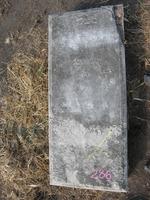 Gravestone 286, Hunt's Bay Jewish Cemetery (Last Name: Silva, First: David)