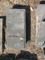 Gravestone 291, Hunt's Bay Jewish Cemetery (Last Name: Cardosso, First: Moseh, Middle: Yezurun)