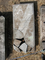 Gravestone 299, Hunt's Bay Jewish Cemetery (Last Name: Sueyro, First: Abraham)