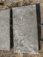 Gravestone 314, Hunt's Bay Jewish Cemetery (Last Name: Carvalio, First: Daniel)
