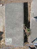 Gravestone 319, Hunt's Bay Jewish Cemetery (Last Name: Ferro, First: Iacob, Title: Sr.)