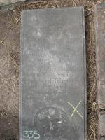 Gravestone 335, Hunt's Bay Jewish Cemetery (Last Name: Ferro, First: Abraham, Title: Infante Talmid)
