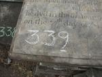 Gravestone 339, Hunt's Bay Jewish Cemetery (Last Name: Lousada, First: Aaron, Middle: Baruh)