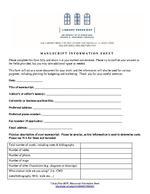 LibraryPress@UF, Manuscript Information Sheet