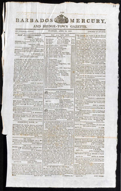 Barbados Mercury, and Bridge-town Gazette ( 4/30/1816 )