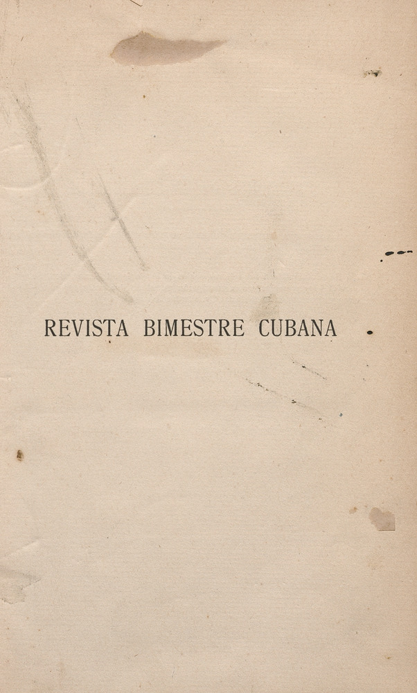 Revista bimestre cubana - Page 1