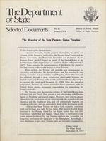 The Meaning of the new Panama Canal treaties
