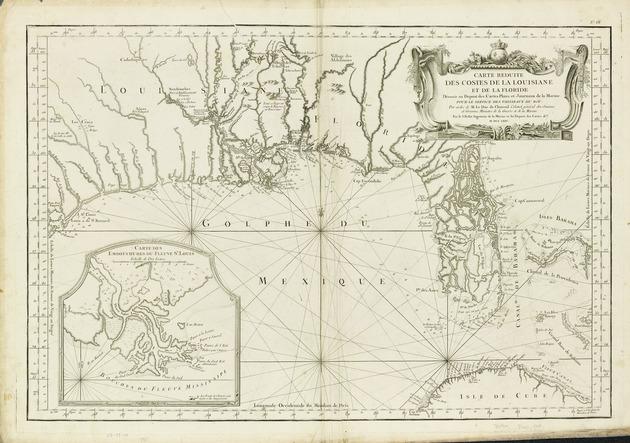 Carte réduite des costes de la Louisiane et de la Floride