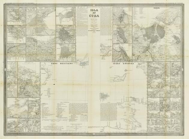 Isla de Cuba : medias hojas estermas oriental y occidental ó de derecha é izquierda - Map