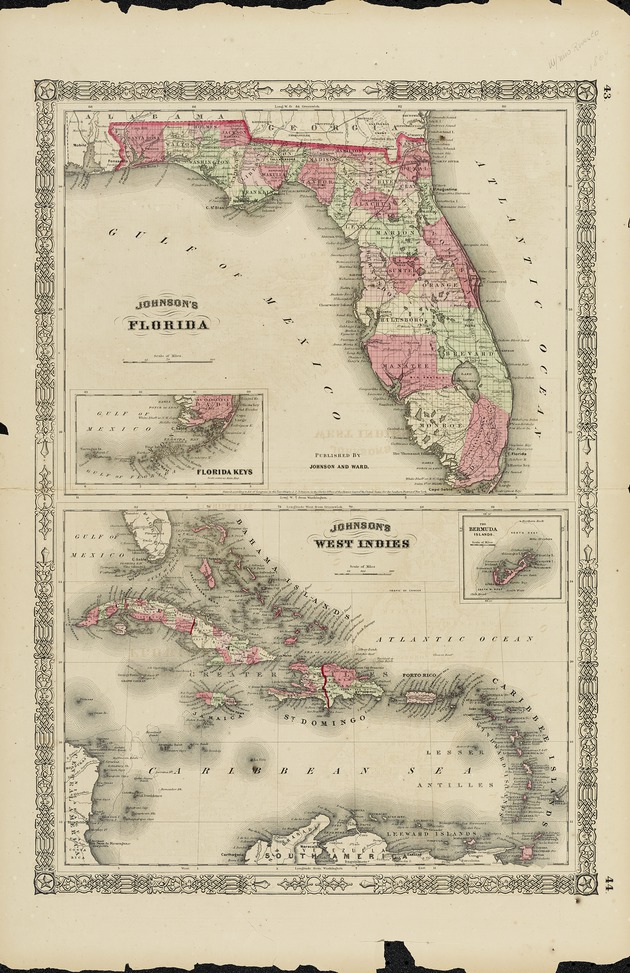 Johnson's Florida ; Johnson's West Indies - Maps