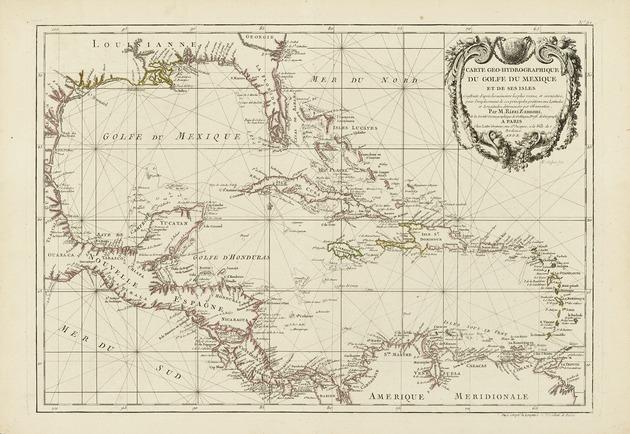 Carte geo-hydrographique du Golfe du Mexique et de ses isles