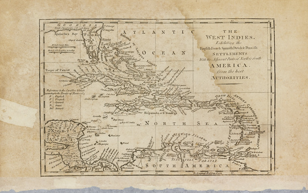 The West Indies - Map