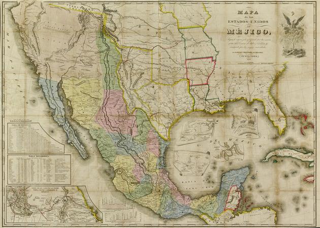 Mapa de los Estados Unidos de Méjico - Map