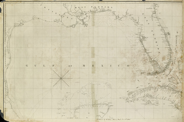 A general chart of the West Indies and Gulf of Mexico, describing the gulf and windward passages, coasts of Florida, Louisiana and Mexico, Bay of Honduras and Musquito shore ; - Sheet No. 1