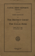 Canal Zone reports