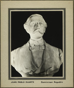 Photograph of a bust of Juan Pablo Duarte, one of the founding fathers of the Dominican Republic