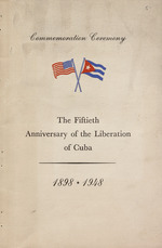 Commemoration ceremony upon the occasion of the fiftieth anniversary of the liberation of Cuba, 1898-1948