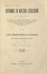 Reformas en nuestra legislacion