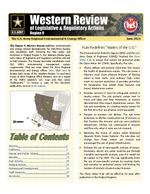 Western review of legislative & regulatory actions: Region 9