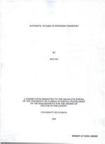 Synthetic studies in nitrogen chemistry
