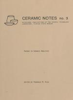 Ceramic notes