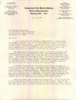 Letter from E. Clay Shaw Jr. to the Honorable George Bush, Vice president of the United States, Washington, D.C., July 10, 1981