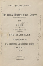 Annual report of the Cuban Horticultural Society =