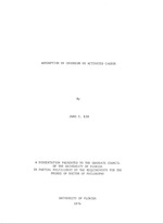 Adsorption of chromium on activated carbon