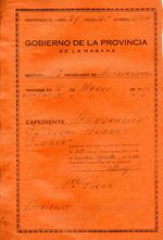 Registración expediente de la Agrupación Cultural Hebreo-Cubana