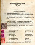 Agrupación Cultural Hebreo-Cubana Certificacion