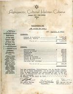 Agrupación Cultural Hebreo-Cubana : presupuesto del año social de 1954.