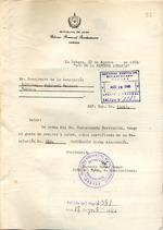 Confirmación de cancelación de la Agrupación Cultural Hebreo-Cubana