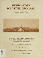 Dedicatory Souvenir Program, Sunday, April 8, 1984