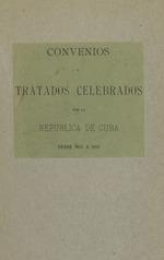 Convenios y tratados celebrados
