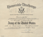 Henri Landwirth's certificate of honorable Discharge from the US Army