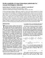 On the sensitivity of a laser heterodyne polarimeter for vacuum birefringence detection