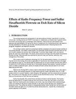Effects of Radio Frequency Power and Sulfur Hexafluoride Flowrate on Etch Rate of Silicon Dioxide