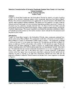 Materials Characterization of Unknown Wastewater Samples from Tyndall Air Force Base