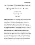 Socioeconomic Determinants of Healthcare Quality and Outcomes in U.S. States