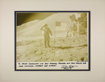 Photograph of astronaut Dave Scott of the Apollo 15 mission dedicated to Henri Landwirth and signed