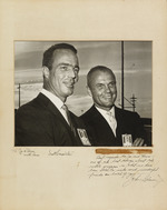 Photograph of Scott Carpenter and John Glenn, with their signatures, dedicated to Henri Landwirth